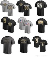 Fútbol americano masculino NEW ORLEANS SAINT 9 Drew Brees 10 Brandin Cooks 28 Adrian Peterson 32 Kenny Vaccaro Name Number Logo camiseta