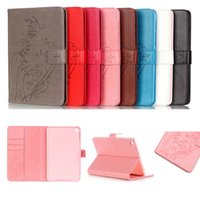 Wholesale Kid Ipad Case Cover - YB For Apple iPad Mini 4 Case PU Leather Silicone TPU Back Stand Girl Kids Gift Tablet Cover with card slot For Ipad Mini4