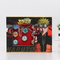 Wholesale Naruto Finger - 10pcs set Anime Cartoon Naruto Rings Akatsuki Member's Cosplay Finger Rings with box Gifts for Kids