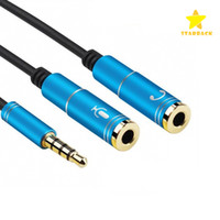 speaker microphone splitter - Latest in mm Audio Jack to Earphone and Microphone Stereo Cable Male to Female Audio Splitter Adapter Connecter