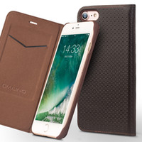 Wholesale Iphone Lizard Case - Ultra Slim Case for iPhone 7 Luxury Leather Flip Cover for iPhone 7 plus Card Holder 4.7 5.5 lizard pattern grid pattern