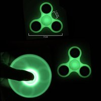 Wholesale spinning glow - 2017 Hot selling Glow Fidget Spinners Triangle Design Hand Spinner EDC Toys For Decompression Anxiety Stainless Steel Spinning Top
