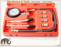 Wholesale Petrol Kit - 8pc Petrol Engine Compression Test Kit 63mm Gauge 16in Flexible Extension Adapter