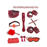 Wholesale Drill Sex Toys - Classic Style sextoys adults for women bdsm bondage set kit Buttfly Hot Drilling sex toys for couples anal plug collar adult toy
