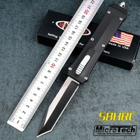 Wholesale Microtech Troodon A162 Knife - 4Styles Microtech A162 Combat Troodon double action out the front knives 440C steel Pocket knife with retail box and nylon pouch