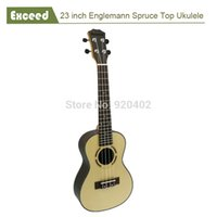Wholesale Guitar Amazing - Wholesale- 23 inch Concert ukelele Hawaii Acoustic Guitar Handcraft Amazing Sound quality Spruce China Guitarra Ukulele musical instrument