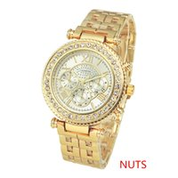 Wholesale Moda Casual Mujer - NUTS Reloj moda mujer 2017 Women's Quartz Watch Stainless steel Men's bracelet on hand Watches