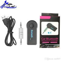 porsche оптовых-Универсальный 3,5 мм потоковый A2DP Беспроводной комплект Bluetooth AUX Аудио Музыкальный приемник Адаптер Handsfree с микрофоном для телефона MP3