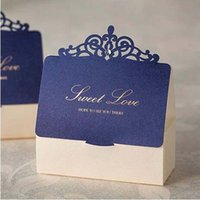Wholesale wedding chocolate gifts for guests resale online - 30 Wedding Candy box Gift Box Wedding Chocolate Box Sweet Paper Bag For Guests Event Decor