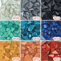 Wholesale Crafting Glitter - 200g glitter crystal mosaic tesserae DIY craft material Loose Crystal Glass Mosaic Tile, DIY Hobbies, DIY Mosaic Art Material Supplier