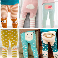Wholesale Wholesale Kid Tights - Kids Animal Leggings Baby footless Tights Fox Duck Sheep Lovely Boys Girls Elastic Soft Cotton PP pants Kids tights 2017 Fall Fedex free
