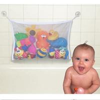 Wholesale Plastic Bag Organiser - Wholesale- Kids Baby Bath Tub Toy Tidy Storage Suction Cup Bag Mesh Bathroom Organiser Net kids toys