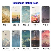 Wholesale Thin Big Cell Phones - For Apple iphone 6 plus 7 SE silicone case landscape Plating TPU Ultra thin cell phone cases Elizabeth Tower Big Ben Eiffel