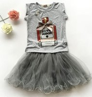 Wholesale Girls Black Skirt Sets - girls clothing sets boutique kids clothes summer baby perfume bottle print sequin shirts short sleeve + ruffle tutu skirts childrens outfits