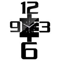 Wholesale reloj pare online - Quartz Watch Acrylic Mirror Wall Clock Large Decorative Clocks Modern Living Room Diy Reloj De Pared Horloge Wall Stickers