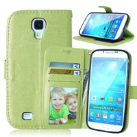 Wholesale Galaxys4 Cases - Case For Samsung Galaxy S4 S 4 i9500 i9502 Duos i9505 i9506 Flip Leather Phone Cover For GalaxyS4 GT-i9500 GT-i9505 GT-i9502