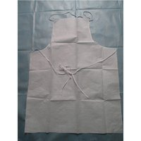 Wholesale Disposable Non woven medical apron waterproof Oil proof Film Non woven aprons color blue white size cm