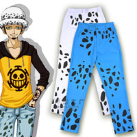 Wholesale Trafalgar Law New Costume - Wholesale- 2015 new arrival cartoon manga one piece Trafalgar D Water Law spotted long pants cosplay costume fashion casual wear trousers