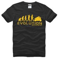 Wholesale Evolution Men - New Designer MOTORBIKE T Shirts Cotton Short Sleeve O-Neck MOTORCYCLE APE TO EVOLUTION Men's T-Shirt Fashion Male Tee Shirt