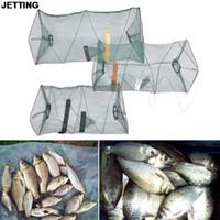 Wholesale Shrimps For Fishing Bait - JETTING Fishing Net For Crab Fish Crawdad Shrimp Minnow Fishing Bait Trap Cast Dip Foldable Net Cage Fishing Accessaries 1 Pcs