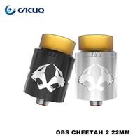 Wholesale Cheetah Glasses - Original OBS Cheetah II RDA Atomizers 22mm Top Airflow Top Filling 100% Cheetah 2 rda Tank