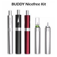 Wholesale Original Outfits - Original BUDDY Nicefree Vaporizer Kit E Cigarettes 450mAh VV Vape Pen Kits With Glass Bottle Outfit 0.8ml Atomizer No Leakage