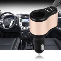 Wholesale Dual Car Cigarette Sockets - High Quality 12V 1A & 2.1A Universal 2 Ports Dual USB One Way Car Cigarette Lighter Power Socket USB Car Cigarette Lighter Socket