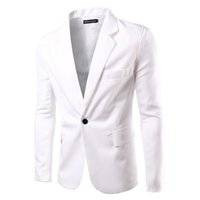 Wholesale Leisure Suit Models - Wholesale- 2017 spring new men's fashion solid color basic models of high-quality single row of a buckle leisure suit jacket