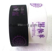 Wholesale Popular Silicone Wristbands - mix 50PCS Lot Popular Black Butler Wristband Silicone Promotion Gift Filled In Color Bracelet