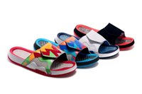 Wholesale Dot Flip Flop - Wholesale New Hydro VII massage Retro 7 slippers Hare 7s sports men women basketball shoes red casual shoes high quality size 36-47