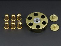 Wholesale Kids Gun Ball - Gun Revolver Spinner Bullet Hand Spinner Tri Fidget Metal Ball Brass