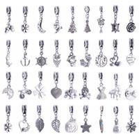 Wholesale Mix Bracelet Love - Mix Style Big Hole Loose Beads Charm For Pandora DIY Jewelry Bracelet For European Bracelets Women Jewelry