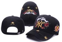 Wholesale Diamond Balls Sale - The hot sale Yankees Hip Hop MLB Snapback Baseball Caps NY Hats MLB Unisex Sports cap Rose embroidery with diamonds caps bone gorras