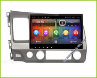 Wholesale Honda Civic Map Dvd - Free shippping 10.2 inch 1024 *600 Android 5.1 Car DVD Multimedia with GPS Wifi Bluetooth maps For Honda Civic 2006-2011