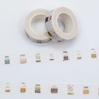 ingrosso nastro di carta giapponese-All'ingrosso- 2016 Colore misto nastro adesivo Washi giapponese lotto pastello desiderio bottiglia modello decorativo adesivo nastri di carta set 1 pz / lotto