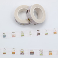 Wholesale japanese washi paper wholesale - Wholesale- 2016 Mixed Color Japanese Washi Masking Tape Lot Pastel Wish Bottle Pattern Decorative Adhesive Paper Tapes Set 1PCS Lot