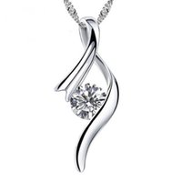 Wholesale Wholesale Nickle Plated Jewelry - Music Style Necklace Top Quality Romantic Platinum Plated Pendants & Necklaces With Zircon Nickle Free Antiallergic Wholesale Jewelry