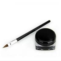 ingrosso nuovo gel nero-New Waterproof Eye Liner Pencil Make Up nero Liquid Eyeliner Shadow Gel Makeup + Brush Black maquiagem