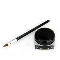 göz farı kalem fırçası toptan satış-Yeni Su Geçirmez Göz Kalemi Makyaj Siyah Sıvı Eyeliner Farı Jel Makyaj + Fırça Siyah maquiagem
