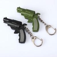 Wholesale Wholesale Small Toy Guns - The new small pistol luminous voice led keychain pendant creative jewelry simulation plastic toys