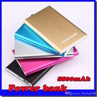 Wholesale ultra mobile phones - Ultra thin slim powerbank mah xiaomi power bank for mobile phone Tablet PC External battery