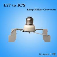 Wholesale R7s Base - Ceramics E27 to R7S 78mm 118mm Lamp Base Socket Bulb Holder Adapter Converter DHL Fast shipping