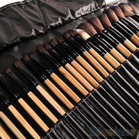 темно-синие тени для век оптовых-Wholesale-32Pcs Soft  Brushes Professional Cosmetic Make Up Brush Tool Kit Set 2PME