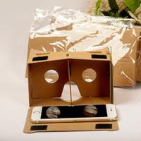 iphone de los vidrios 3d de la cartulina al por mayor-Google VR Glasses Cardboard realidad virtual Gafas 3D Storm Mirror DIY Kit para teléfonos móviles Iphone 6 7 más Samsung s7 s7edge s8