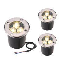Wholesale Wholesale Floor Lamps - 3W LED underground light lamps outdoor buried recessed floor lamp Waterproof IP67 Landscape stair lighting 85-265V AC