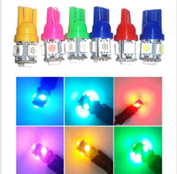 Wholesale Crystal Tail Lights - Free shipping! 100pcs lot T10 5050 5SMD LED Bulb 194 168 W5W Wedge XENON WHITE Car Tail light New