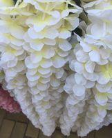 ingrosso viti di seta di glicine per il matrimonio-3.28 Ft Split Joint Wisteria Silk Vine Artificiale Cattleya Ortensia Fiori Piante Per Home Hotel Ufficio Festa di Nozze Giardino Artigianato Art Dec