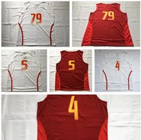 8af226d3c45 Spain Team Jersey 5 Fernandez 4 Pau Gasol Spain Shirts Uniform 79 Ricky  Rubio Fashion Rev Home Color Red White ...