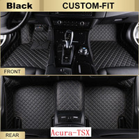 Wholesale Acura Mats - SCOT Custom Fit Leather Car Floor Mats for Acura TSX All Weather Waterproof Anti-slip 3D Front & Rear Carpets Left-Hand-Driver-Model
