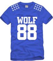 Wholesale Exo Wolf 88 Shorts - free shipping sale fashion EXO T-shirt Wolf 88 Tshirt five star printed Childrens Tshirts KPOP LUHAN KRIS exo Kids tshirts 100% cotton